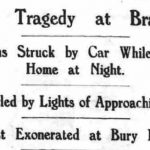 Newspaper clipping of the fatal car accident involving Rodney Kent