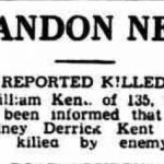 The Bury Free Press reports about the death of Rodney Kent