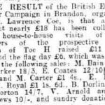 Lawrence Coe's name in the Bury Free Press, dated 1935