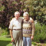 Ken Harris with his brother Dennis, at Dennis' home in Australia, 1998.