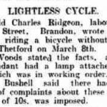Newspaper clipping of Reginald Ridgeon