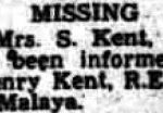 Bury Free Press, May 1942, news of Henry Kent