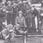 Men operating a Spigot mortar