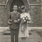 Wedding of an airman billeted with Ena's family