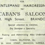 1950s advert for Caban Hairdressers