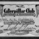 Jake Giacomelli's Caterpillar Club Certificate