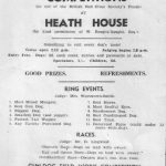 Advert for a fete at Heath House, 1944
